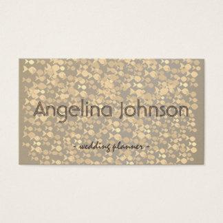 Golden Fish Pattern Wedding Planner Glamour Chic Business Card