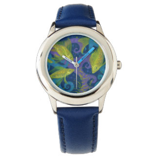 Golden Fishes, Pisces, fish, nautical underwater Watch