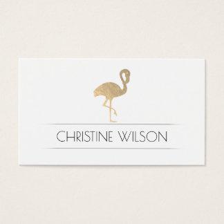 golden flamingo business card