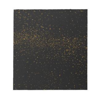 Golden Fleck Backgound Notepads