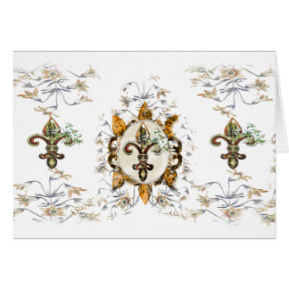 Golden fleur De Li Note Cards