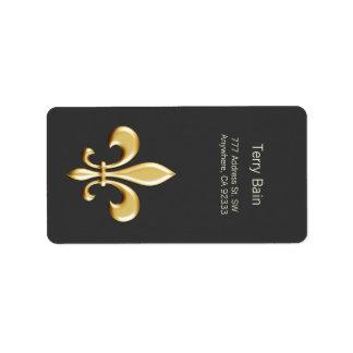 Golden Fleur De Lis Étiquettes D'adresse