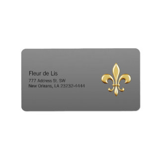 Golden Fleur De Lis Étiquette D'adresse