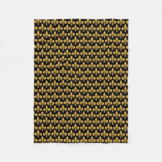 Golden Fleur de Lis Fleece Blanket