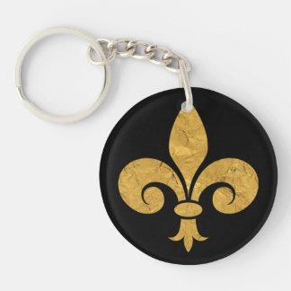 Golden Fleur de Lis Keychain
