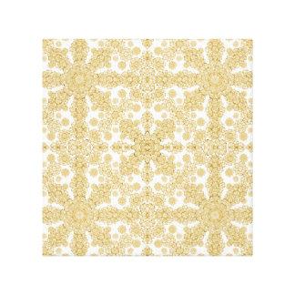 Golden Floral Boho Chic Canvas Print