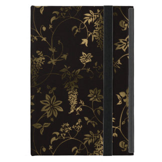Golden floral iPad mini cover