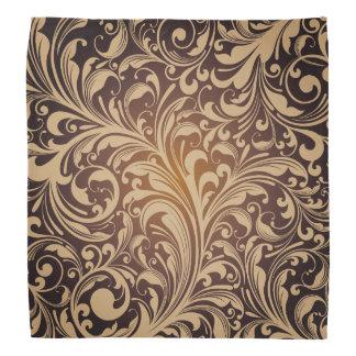 Golden floral Pattern Bandana
