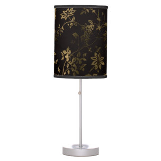 Golden floral table lamps