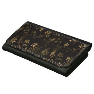 Golden floral wallet