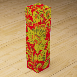 Golden Floral Wine Gift Boxes