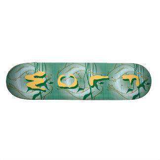 Golden Flow Fish Skateboard
