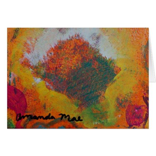 Golden Flower Card