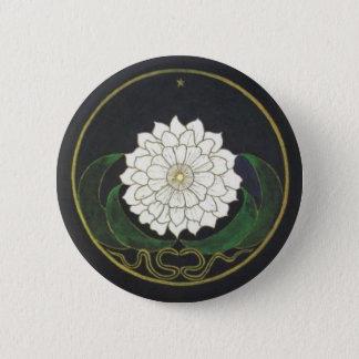 Golden Flower Mandala 2 Inch Round Button