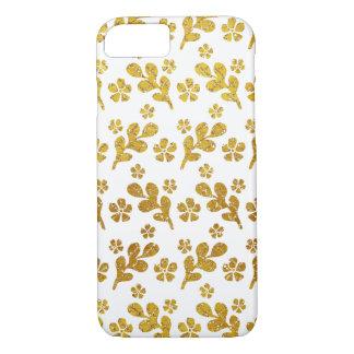 Golden Flower Pattern iPhone 7 Case