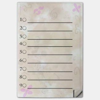 Golden flower to do list post-it notes