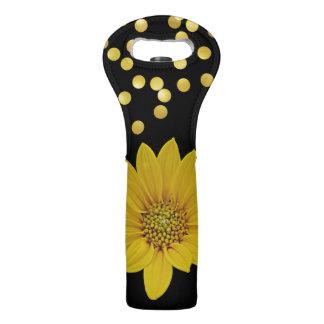 Golden Flower Wine Bag