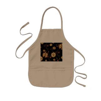 Golden flowers apron