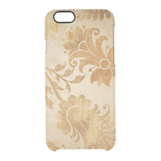 Golden Flowers Vintage iPhone Clearly™ Deflector Clear iPhone 6/6S Case