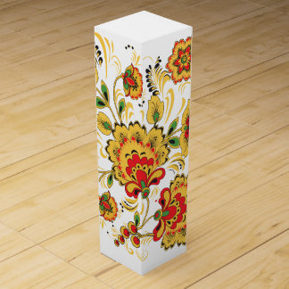 Golden Flowers Wine Gift Boxes