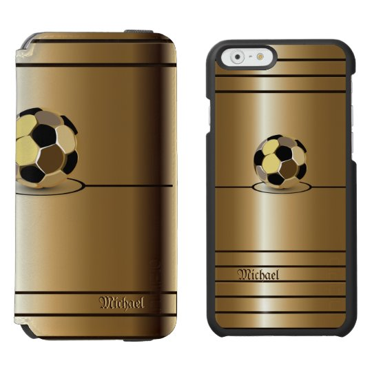 Golden Football Soccer Style Incipio Watson™ iPhone 6 Wallet Case