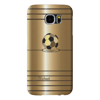 Golden Football Soccer Style Samsung Galaxy S6 Cases