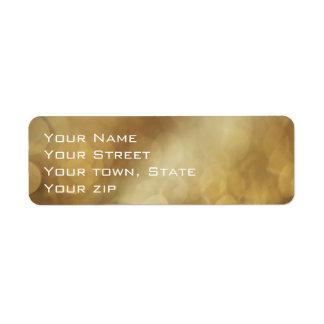 Golden for the Holidays Return Address Label