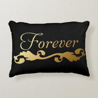 Golden Forever Decorative Pillow