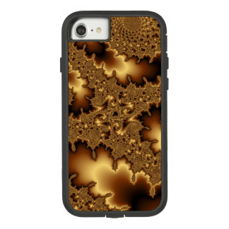 Golden fractal «abstract leaves» Case-Mate tough extreme iPhone 8/7 case