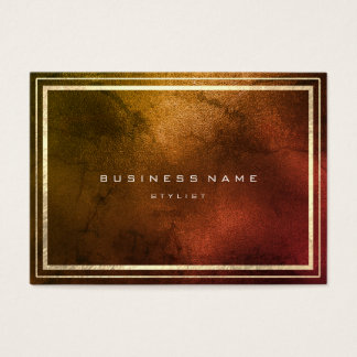 Golden Frame Copper Rose Maroon Rusty Minimal Business Card