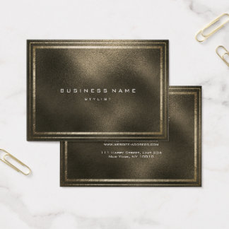 Golden Frame Glass Metallic Sepia Minimal Business Card