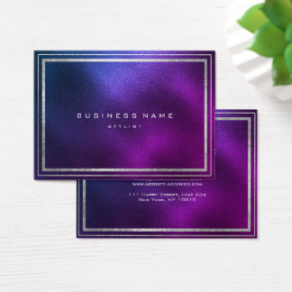 Golden Frame Tropical Purple Amethyst Minimal Business Card