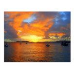 Golden Frank Bay Sunset, St. John, U.S.V.I. Postcards