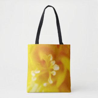 Golden freesia tote bag