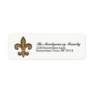 Golden French Fleur De Lis Crest & Family Name