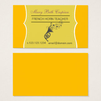 Golden French Horn Business Card