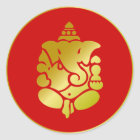 Golden Ganesha Classic Round Sticker