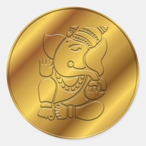 Golden Ganesha Design Stickers
