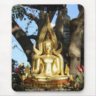 Golden Garden Buddha Mouse Mats