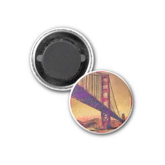 Golden gate bridge 1 inch round magnet