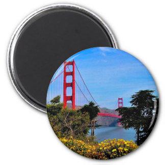 Golden Gate Bridge 2 Inch Round Magnet