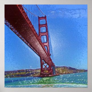 Golden Gate Bridge 3D Poster
