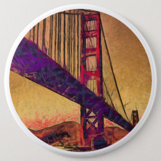 Golden gate bridge 6 inch round button