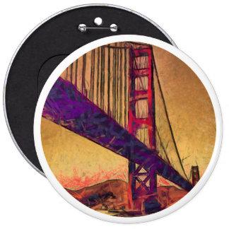 Golden gate bridge 6 inch round button