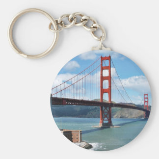 Golden Gate Bridge And Fort Point In San Francisco Keychain
