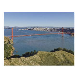 Golden Gate Bridge and San Francisco. 4 Postcard