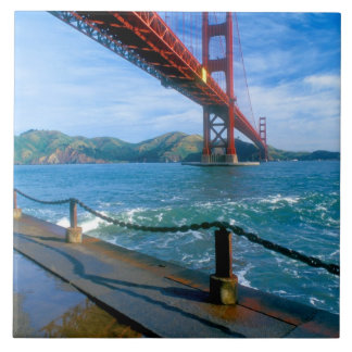 Golden Gate bridge and San Francisco Bay 2 Ceramic Tile