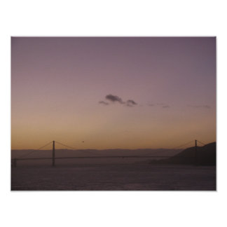 Golden Gate Bridge at Dusk Posters