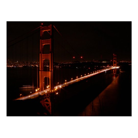 Golden Gate Bridge at Night Postcard