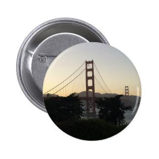 Golden Gate Bridge at Sunset 2 Inch Round Button
